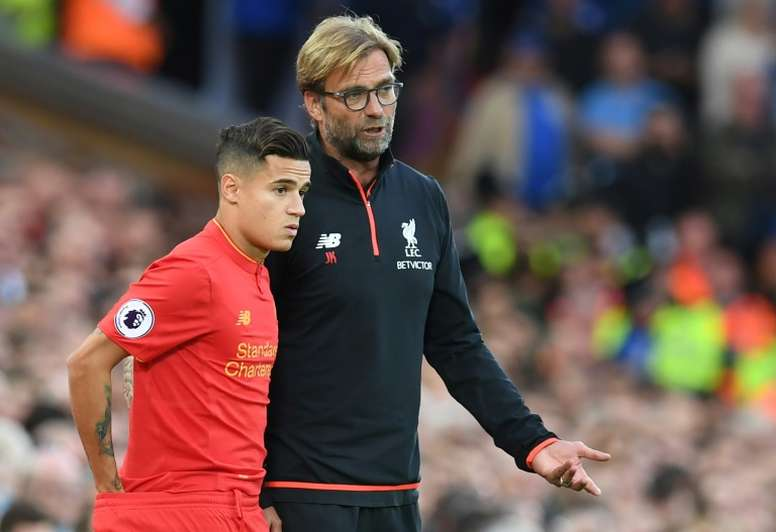 Liverpool coach Jurgen Klopp spoke to 'Bild' about former Reds player Philippe Coutinho. AFP