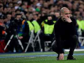 Pep Guardiola is pleased, but not overconfident. AFP