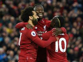 Liverpool's African trio all found the back of the net against Huddersfield on Friday. AFP