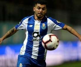 O Porto emitiu um comunicado sobre a lesão de Corona. AFP