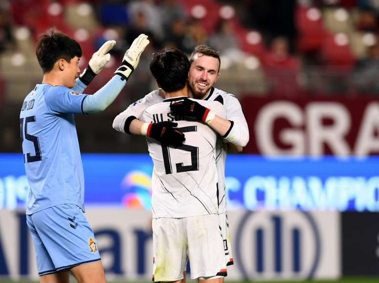 Gyeongnam got a shock victory over Kashima. AFP
