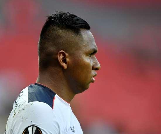 Alfredo Morelos scored twice in Rangers' 3-0 victory against St Mirren. AFP