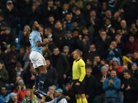 Sterling won a comical penalty. AFP