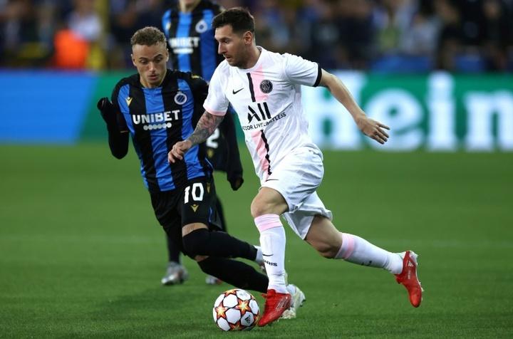 Bruges-PSG : Neymar, Mbappé, Messi n'ont pas trouvé la connexion. AFP