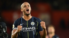 Manchester City captain Vincent Kompany to extend his stay. AFP