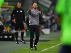 Schalke boss Domenico Tedesco under pressure after poor start in Bundesliga. AFP