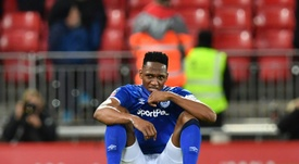 El Everton confirmó que sufre una rotura parcial en el cuádriceps. AFP