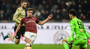 Piatek opened the scoring for Milan in the Coppa Italia last 16 game. AFP