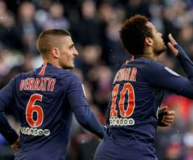 Verratti sai em defesa de Neymar. AFP