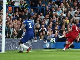 Salah struggled against a strong Chelsea side. AFP