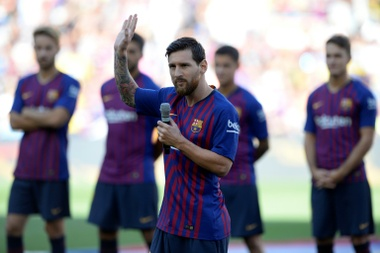 Messi spoke before kick off in Wednesday's Joan Gamper match-up. AFP