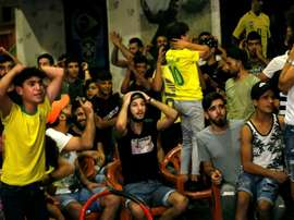 Brazil fans are everywhere in Beirut. AFP