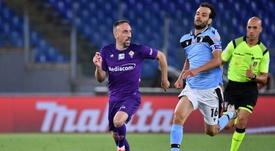 Franck Ribéry ne souhaite pas s'en aller. AFP
