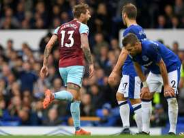Hendrick scored the only goal of the game at Goodison Park as Burnley beat Everton 1-0. AFP