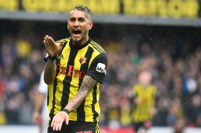 Pereyra nominated after three goals in three matches for Watford. AFP