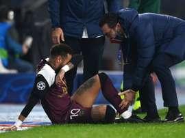 Neymar will be out until the international break. AFP
