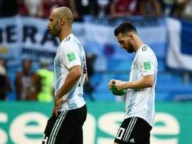 Mascherano não descarta Messi no Campeonato Argentino. AFP