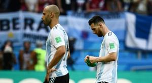 L'Argentine sans Messi. AFP