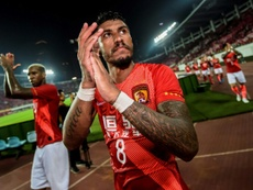 Paulinho did not get back before China closed borders to foreigners. AFP