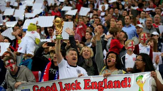 Some England fans will have difficulty in seeing their team. AFP
