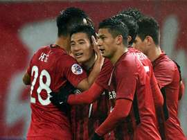 Wu smashed four goals past Guangzhou. AFP