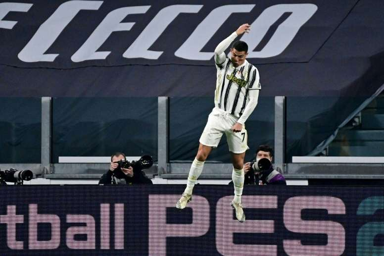 Pirlo was delighted with Cristiano Ronaldo's brace v Cagliari. AFP