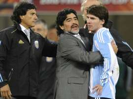 Maradona spoke about Napoli-Barcelona. AFP