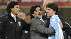 Maradona volvió a hablar de Messi. AFP