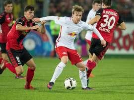 Le RB Leizpig est le premier du classement actuel de Bundesliga. AFP