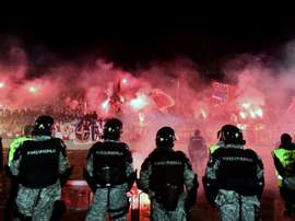 Eternal Derby between Belgrades Partizan. AFP