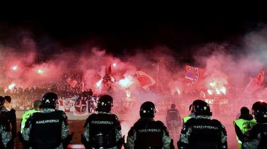 Eternal Derby between Belgrades Partizan. AFP