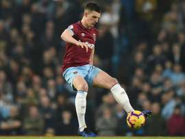 Declan Rice will not be allowed to leave West Ham this summer. AFP