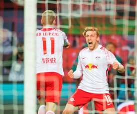 Werner scored the winner for Leipzig on his return from injury. AFP
