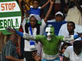 Sierra Leone supporters are pictured at their 2015 African Cup of Nations qualifying match against Ivory Coast in September 6, 2014, during the height of the Ebola epidemic
