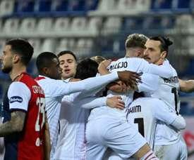 Evergreen AC Milan forward Zlatan Ibrahimovic has scored five braces in eight game this season. AFP