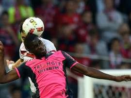 O jogador estava cedido pelo Paris Saint-Germain. AFP