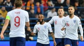 Raheem Sterling added another to his England tally. AFP