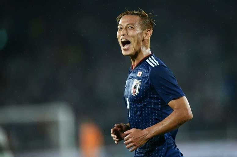 Honda acerta com time holandês e dá adeus ao desemprego. AFP