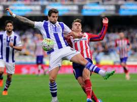 Inigo Martinez (left) has received a call up to the Spain squad for forthcoming matches