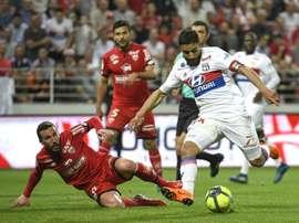 Fekir scored a superb goal to net Lyon's third. AFP