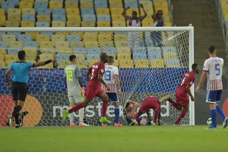 Qatar came from behind to salvage a draw against Paraguay. AFP