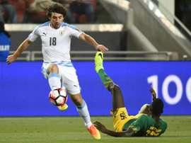 Los uruguayos se toparon con la mala fortuna en la Copa América. AFP