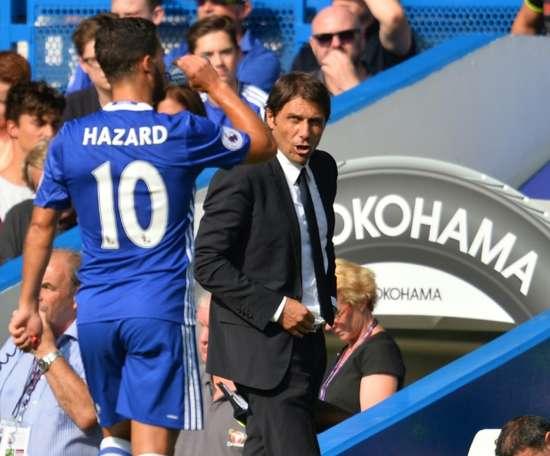 Conte, un obstáculo para Hazard. AFP