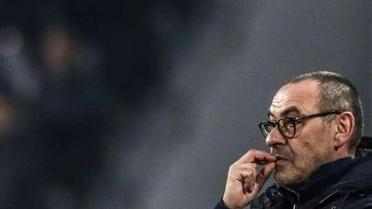 Sarri targets first Juventus trophy against former club Napoli. AFP