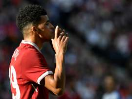 Dominic Solanke has yet to play for Liverpool this season. AFP
