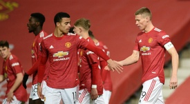 El Manchester United podría perder la oportunidad de fichar a Moisés Caicedo. AFP/Archivo