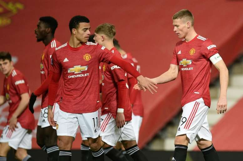 Scott McTominay (R) scored to give Man Utd a 1-0 win over Watford. AFP