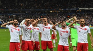 The Turkish sports minister has defended the Turkish side for their military salute. AFP