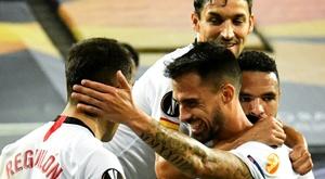 Le formazioni ufficiali di Rennes-Siviglia. AFP