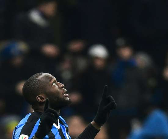 Lukaku double sends Inter into cup quarters, Lazio and Napoli cruise. AFP